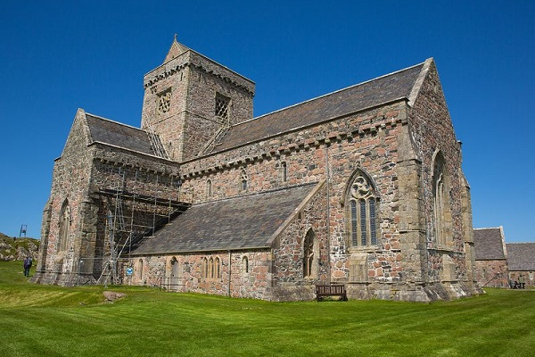Iona Abbey on the Isle of Iona, off the west coast of Scotland