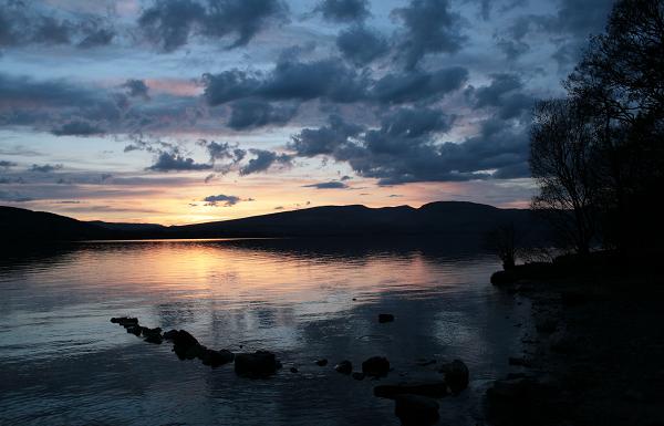 Loch Lomond Sunset Romantic Scotland