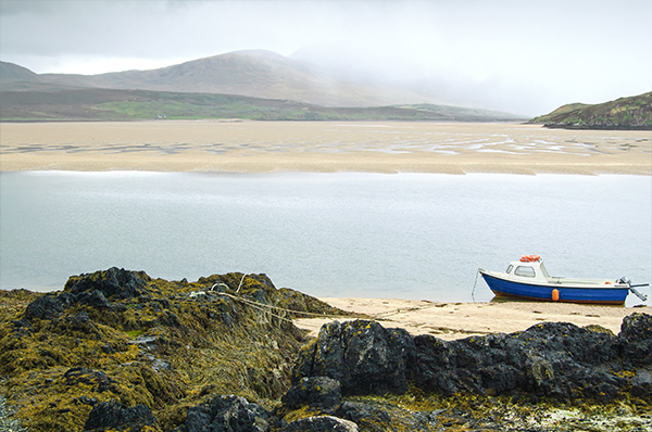 Balnakeil Bay, one of the many magnificent beaches on the north cost of Scotland