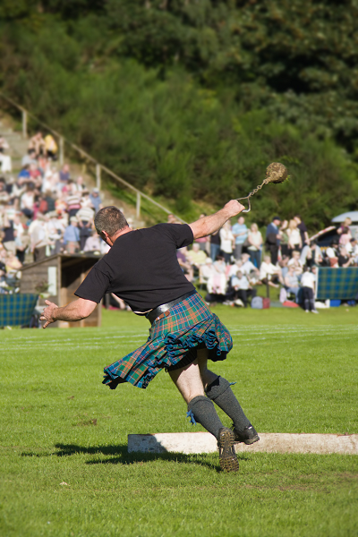 weight throw highland games event