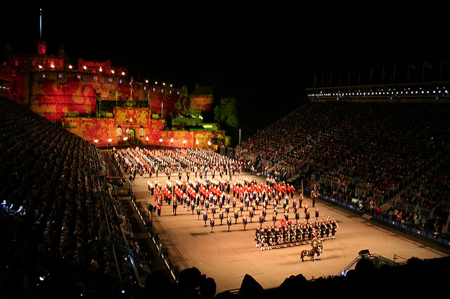 The Edinburgh Military Tattoo, showcasing military and artistic performances from around the globe. Photo credit: Susan McNaughton