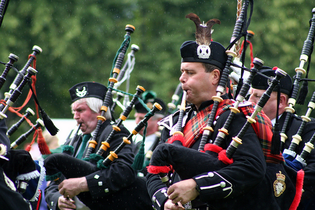 Pipers performing at the Highland Games Inverness. Photo Credit: courtneydhoffman