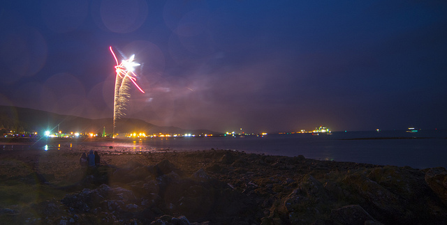 fireworks at the Largs Viking Festival