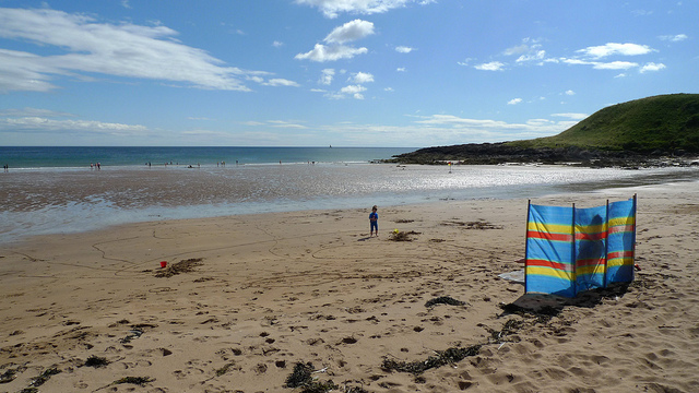 Coldingham sands is a beautiful sheltered beach near the village of St Abbs. Photo credit: Henry Burrows