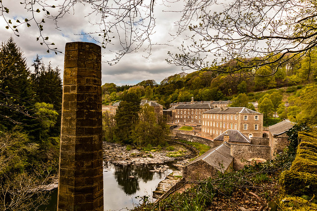 New Lanark, a UNESCO World Heritage site, provides fascinating insight into how people worked and lived during Britain's Industrial Revolution. Photo credit: 4652 Paces