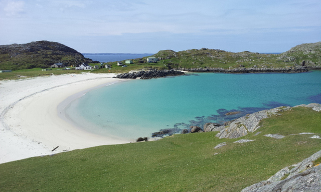 Achmelvich Beach, Lochinver is a popular white sandy beach with camping and caravan sites nearby. Photo credit: Steve Bittinger