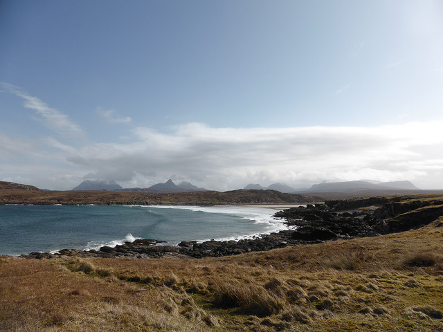 Lying north of Ullapool, Achnahaird Bay has wonderful views of Stac Polly and its neighbouring mountains of Wester Ross. Photo credit: Tom