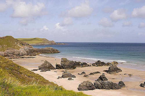Sango Bay is a lovely beach, easily accessible from various car parks and only a short distance from the famous Smoo Cave. Photo credit: Gary Henderson