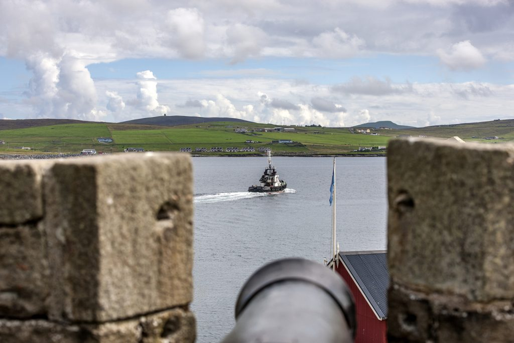 View from Fort Charlotte, Lerwick Shetland, dating back to the 18th century