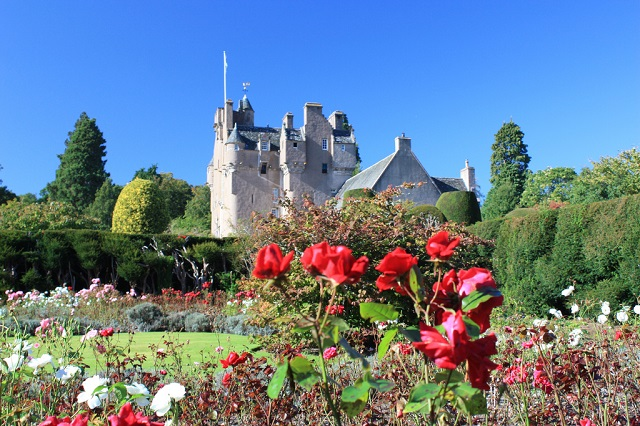 Crathes Castle boasts romantic turrets and spectacular gardens. Photo credit: Nick Bramhall