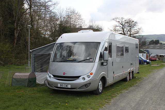 Burstner A Class Motorhome, which look more like an RV than amotorhome! (credit Hugh Trainer)