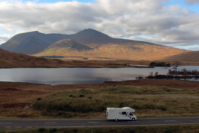 A coach-built motorhome from Motorhome Escapes comfortably handling the narrow roads of Scotland. Credit: Mo Thomson