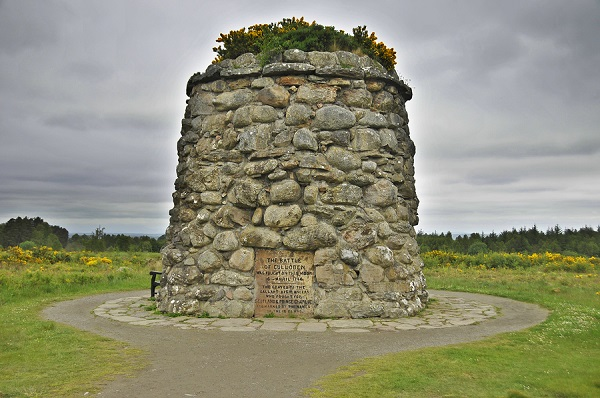 Culloden battle field memorial monument. The Battle of Culloden was the final confrontation of the 1745 Jacobite Rising. The conflict was the last pitched battle fought on British soil,