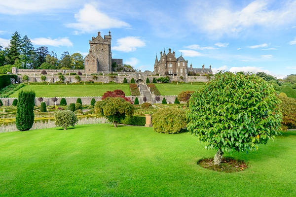 Drummond Castle and Gardens near Crieff in Perthshire