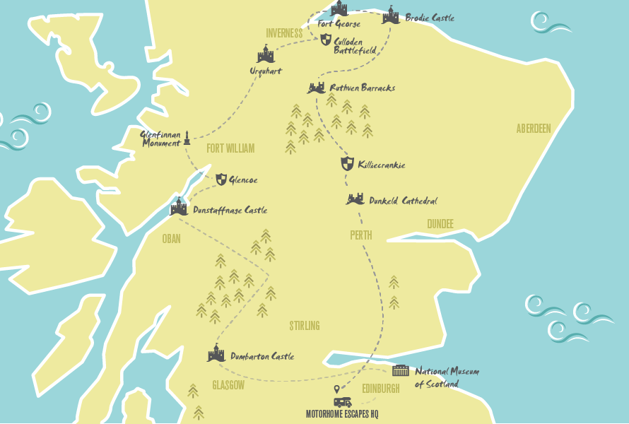 Jacobite Trail Part 2 along Western and Central Scotland with Motorhome Escapes