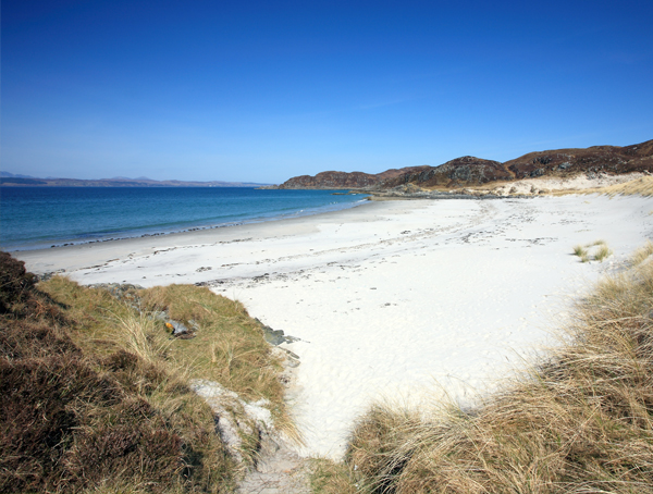 One of Scotland's beautiful beaches along the west coast, at Arisaig