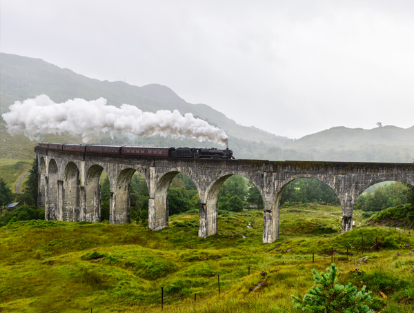 View of the famous Glenfinnan Viaduct
