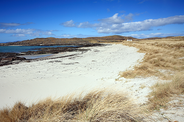The beautiful Camusdarach Beach, made famous by the cult film Local Hero.