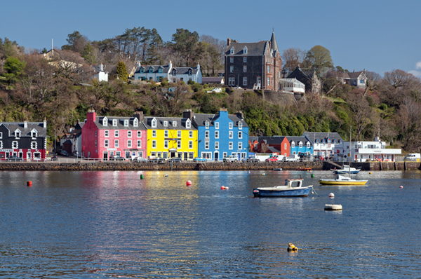 The colourful town of Tobermory, Isle of Mull