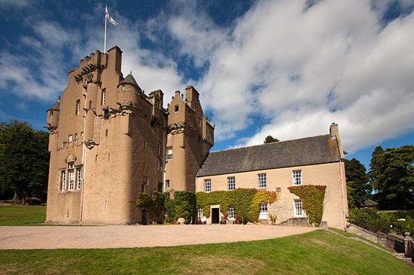 Crathes Castle Estate also includes an enchanting walled garden, cafe, gift shop, and adventure playground for children