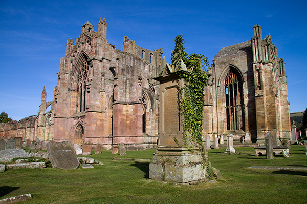 The magnificent ruins of Melrose Abbey