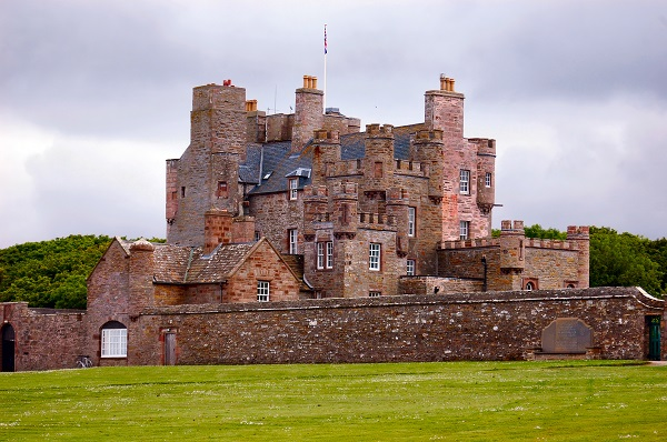 Castle of Mey, the most northerly inhabited castle on the British mainland, was the summer home Her Majesty Queen Elizabeth The Queen Mother