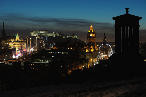 The winter festival is a great time to see Edinburgh decorated in its dazzling display of festive lights