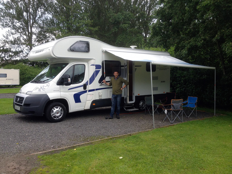 Motorhomes are also convenient on any campsite. Wind out the awning, spread out and relax!