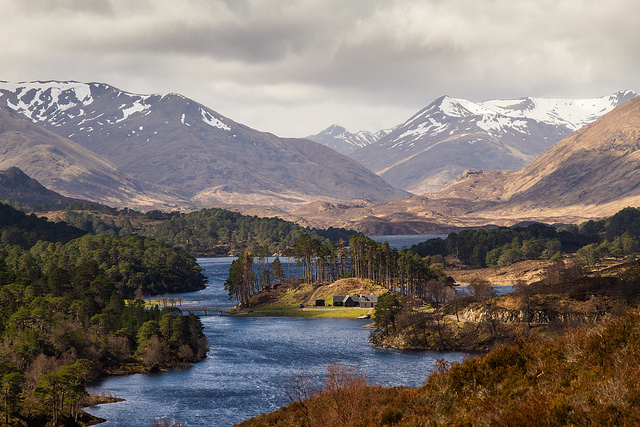 Glen Affric is a fine example of a classic Scottish landscape, featuring a mixture of lochs, mountains and Caledonian Forest. Photo credit: StephenRMelling