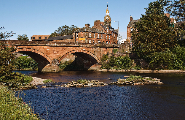 Annan Bridge and Town Hall