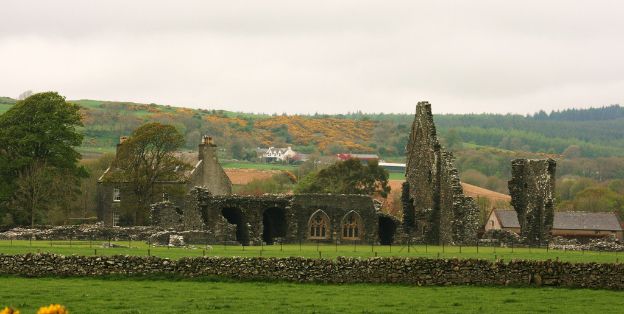 Glenluce Abbey just outside of Glenluce town. Photo credit: Andy Muir