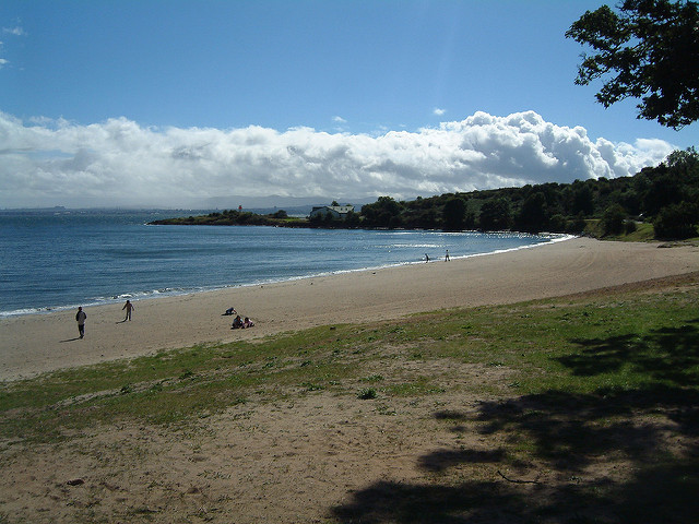 Aberdour Silver Sands is a popular beach resort with families. Photo credit: Iain MacKenzie
