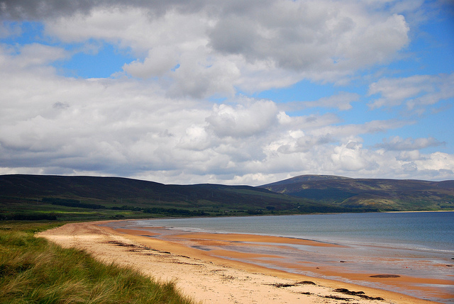 Brora Beach is a hidden gem of a rural beach, great for wildlife watching. Photo credit: Ingolf