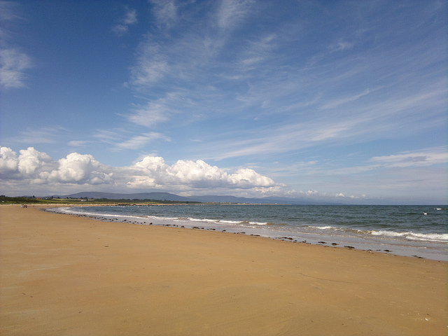 The area around Dornoch boasts miles of beautiful golden white sandy beaches. Photo credit: scorpion1985x