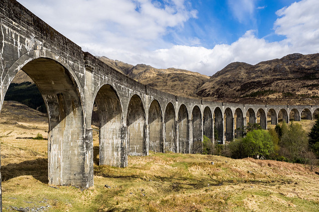 Stop off at the famous Glenfinnan Viaduct, where there are some lovely walking trails nearby. Photo credit: Michael Ebner