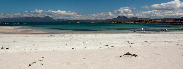 Mellon Udrigle beach offers pristine white sands and stunning views of the mountains of Wester Ross. Photo credit: Jeheme