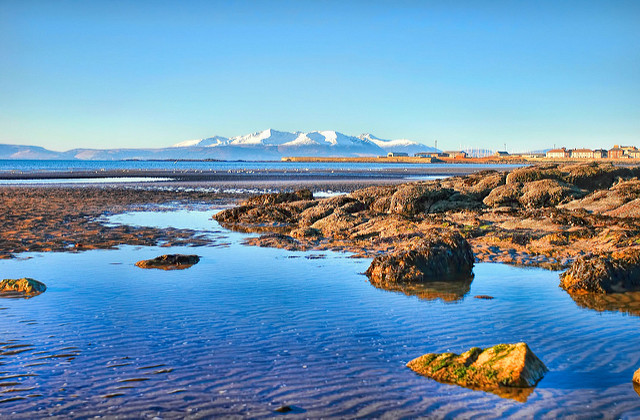 Saltcoats Beach is in the town, but still has lovely views over towards Arran. Photo credit: Oliver Clarke