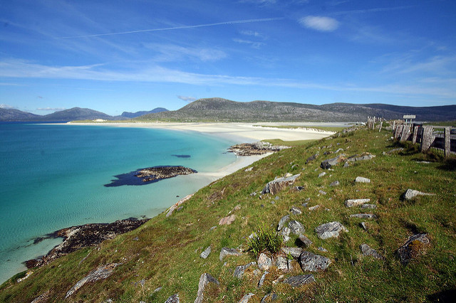 Luskentyre is one of the largest beaches on Harris. Photo credit: Bob the Lomond