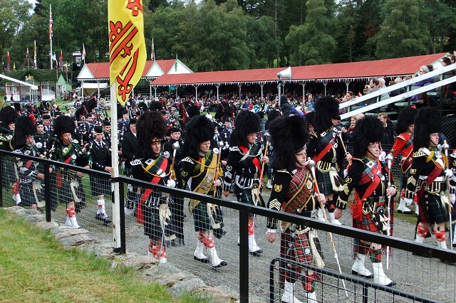 The Braemar Gathering has been running in its present form since 1832. Events include heavy lifting, pipe bands, dancing, tug o' war and other athletic competitions. Photo credit: HandsLive