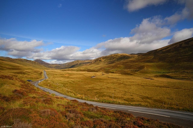 The road through Glen Shee. Photo credit: Bob Hall