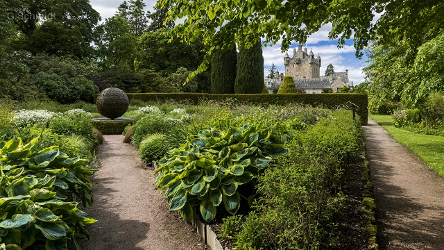 Cawdor Castle has no fewer than three gardens to explore. The Castle and gardens are open from end of April until the beginning of October. Photo credit: Gerard Schmidt