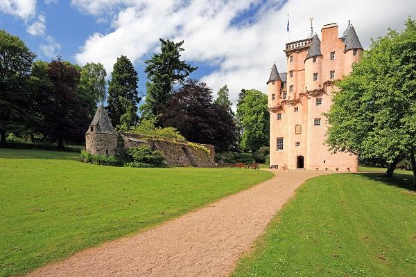 The pink Craigievar Castle, Aberdeenshire, built in 1626