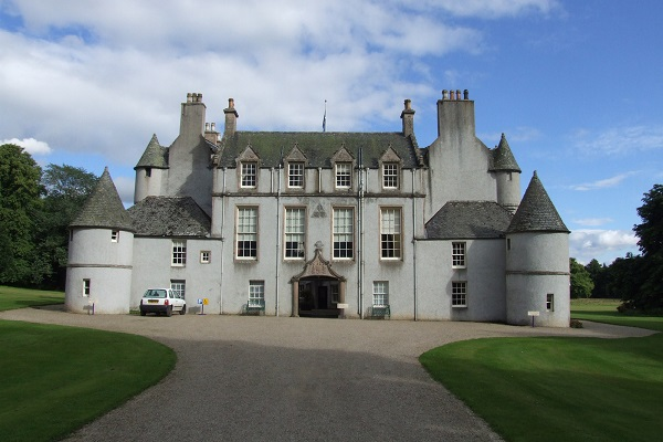 Leith Hall castle and driveway Aberdeenshire Scotland