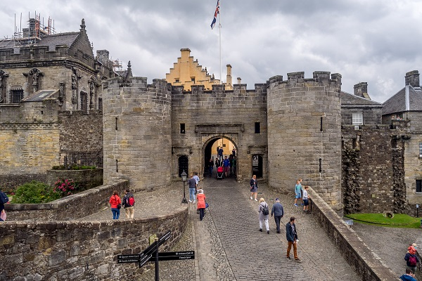 The exterior walls and fortifications of Stirling Castle, Perthshire
