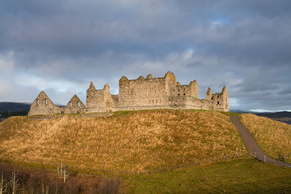 Ruthven Barracks, near Kingussie, Scotland. Built in 1719 following the Jacobite rising of 1715.